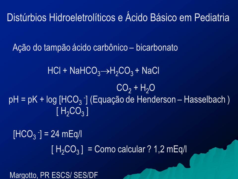[ H2CO3 ] = Como calcular 1,2 mEq/l